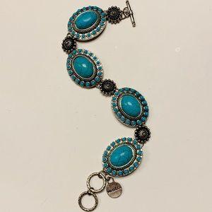Turquoise & Silver Bracelet NWOT